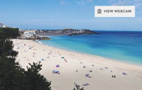 Live Webcam of Porthminster Beach in St Ives Cornwall
