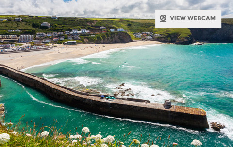 View live webcam of Portreath Beach in North Cornwall