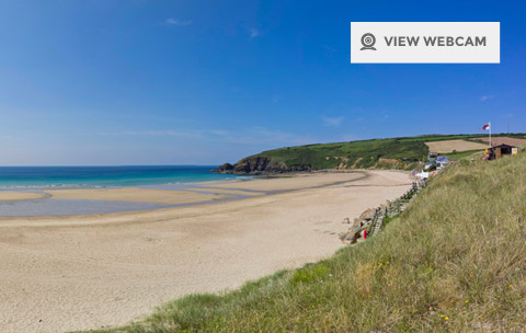 View live webcam of Praa Sands Beach in West Cornwall