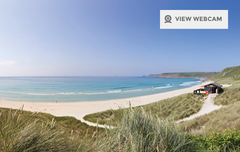 HD live webcam of Sennen beach in West Cornwall