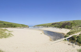 Porth Joke beach in Newquay Cornwall