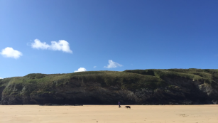 Timelapse video of Crantock Beach Newquay Cornwall