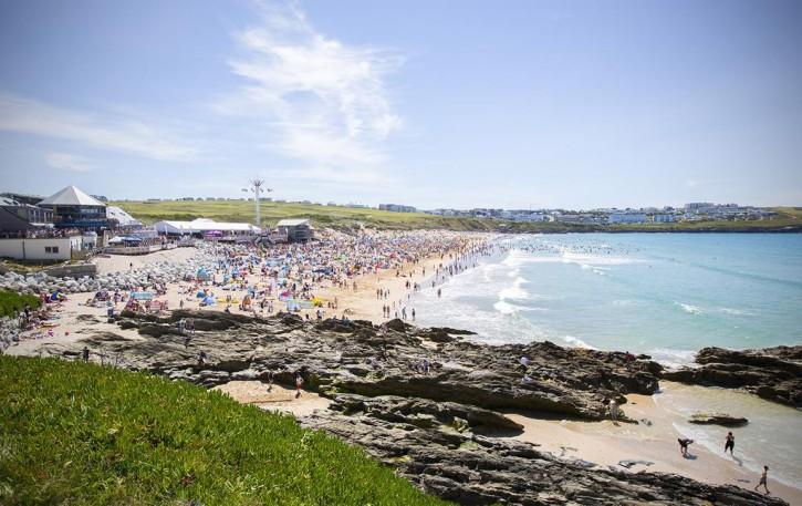 Boardmasters Festival Fistral beach 2015
