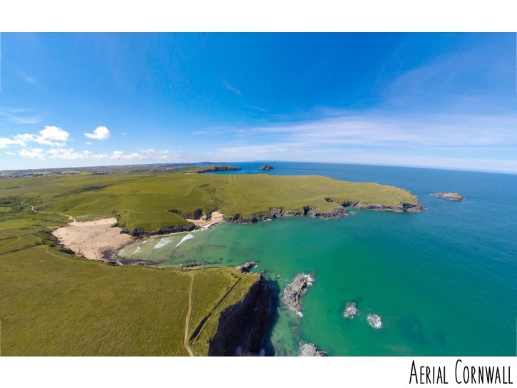 polly joke beach newquay ©aerial cornwall