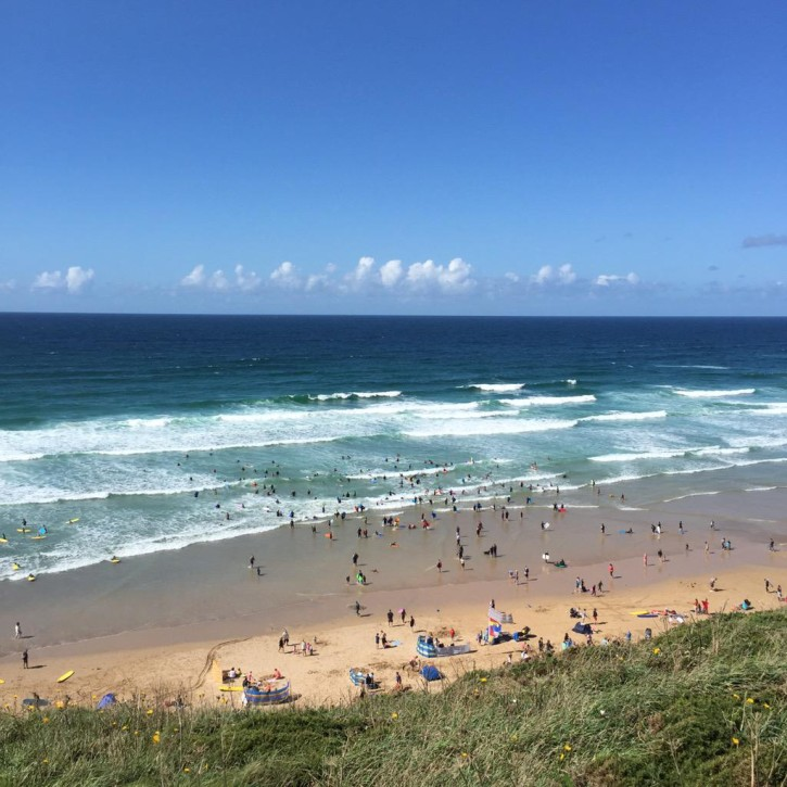 Watergate Bay beach in Newquay by @watergatebay