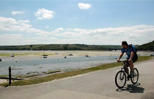 The Camel Trail cycle Padstow Cornwall