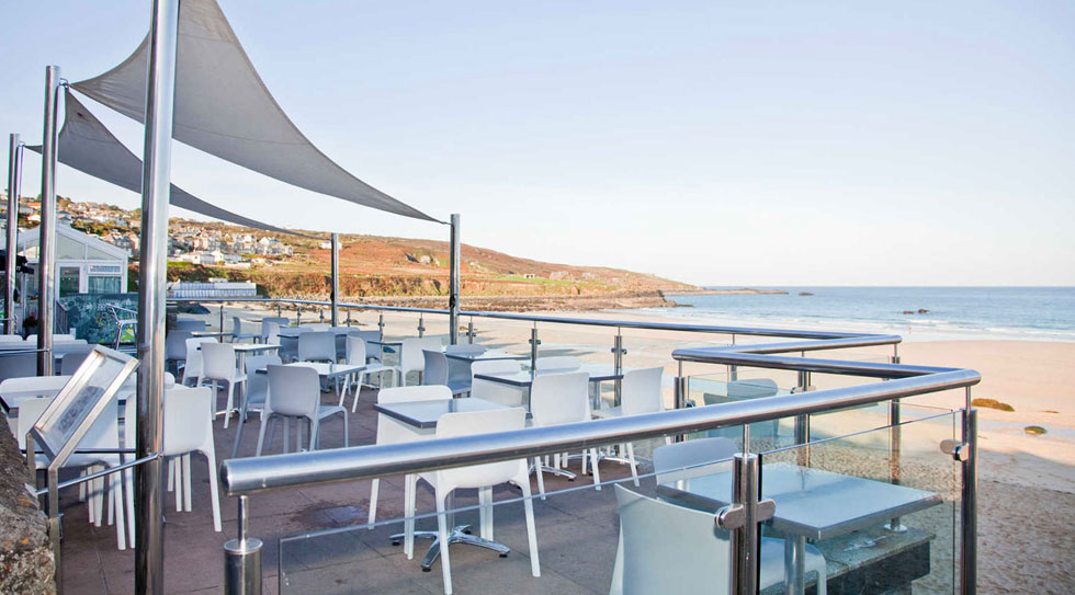 Porthmeor Beach Cafe Bar St Ives| Beach Cafes in Cornwall