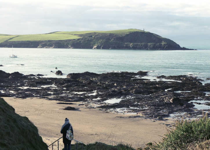 coastal walk from Polzeath to Daymer Bay North Cornwall