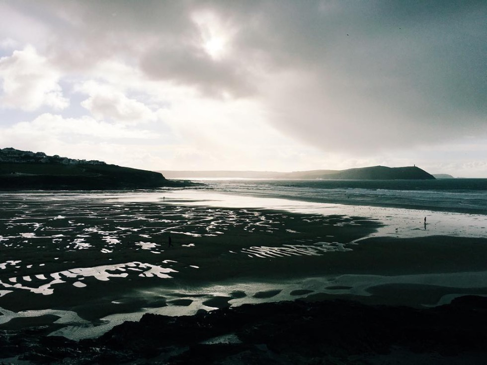 Cornwall Photos - Polzeath beach by Anna Hedderly on Instagram