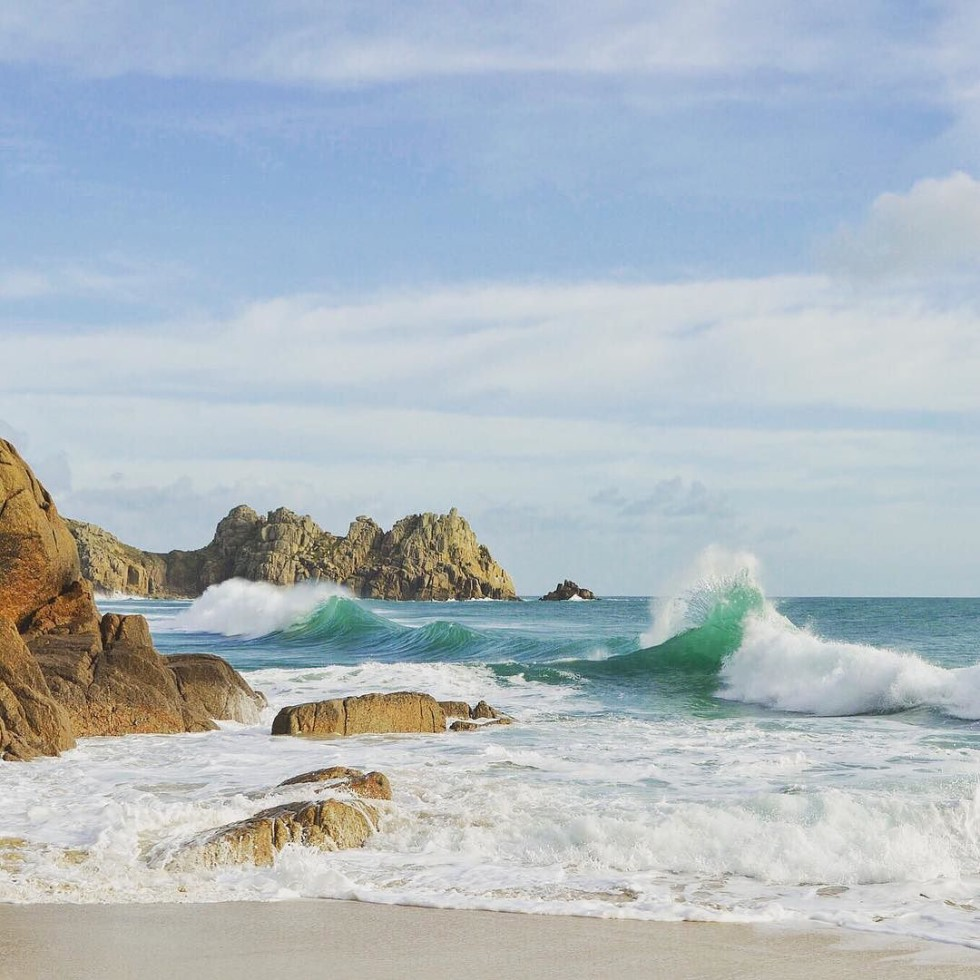 Cornwall Photos - Porthcurno Beach by Kernow Shots