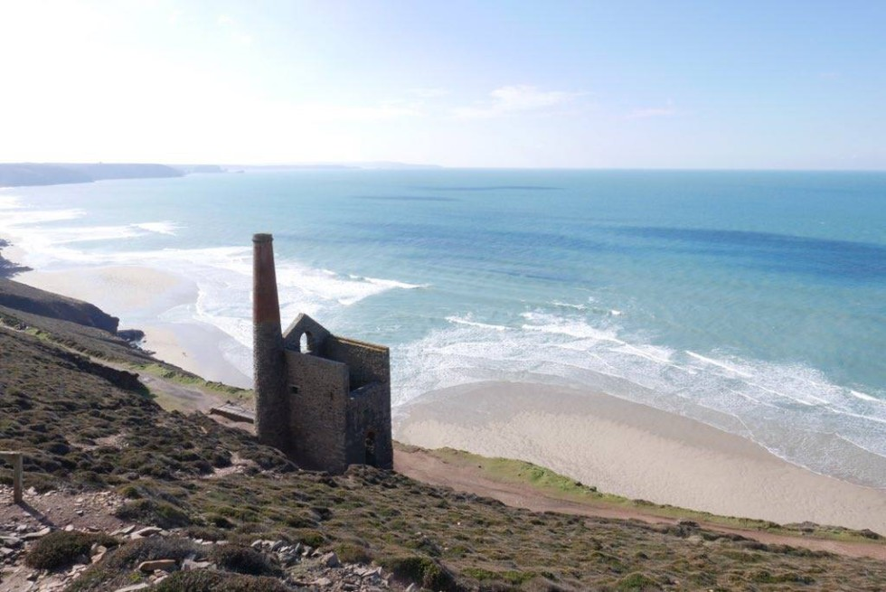 Cornwall Photos - View overlooking Wheal Coates Tin mine in St Agnes