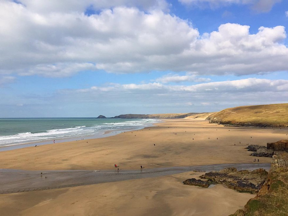 Cornwall Photos - Perranporth beach by @justcornwall on Instagram
