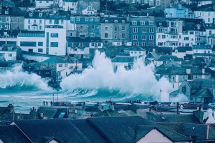 Storm Imogen batters St Ives in Cornwall - photo © Nick Pumphrey