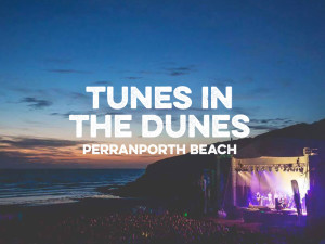 tunes in the dunes music festival on perranporth beach cornwall