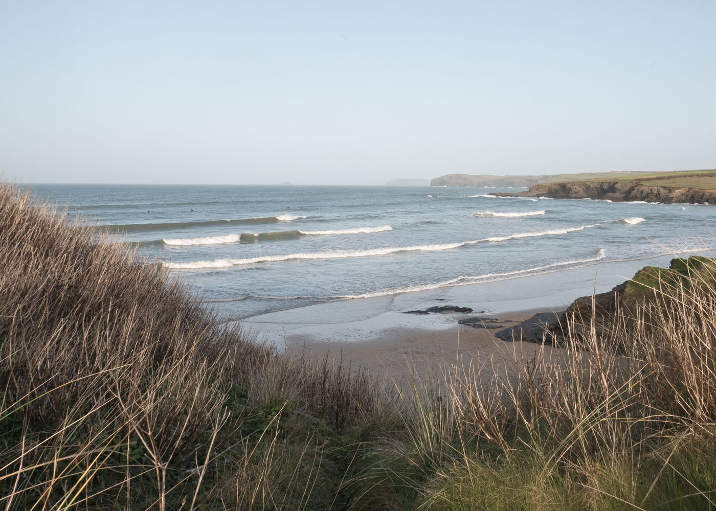 Waves on Harlyn Bay near Padstow North Cornwall