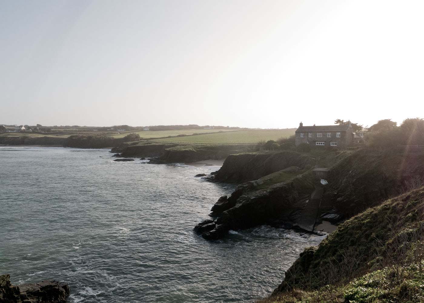gorgeous cottage overlooking Polventon Bay in North Cornwall