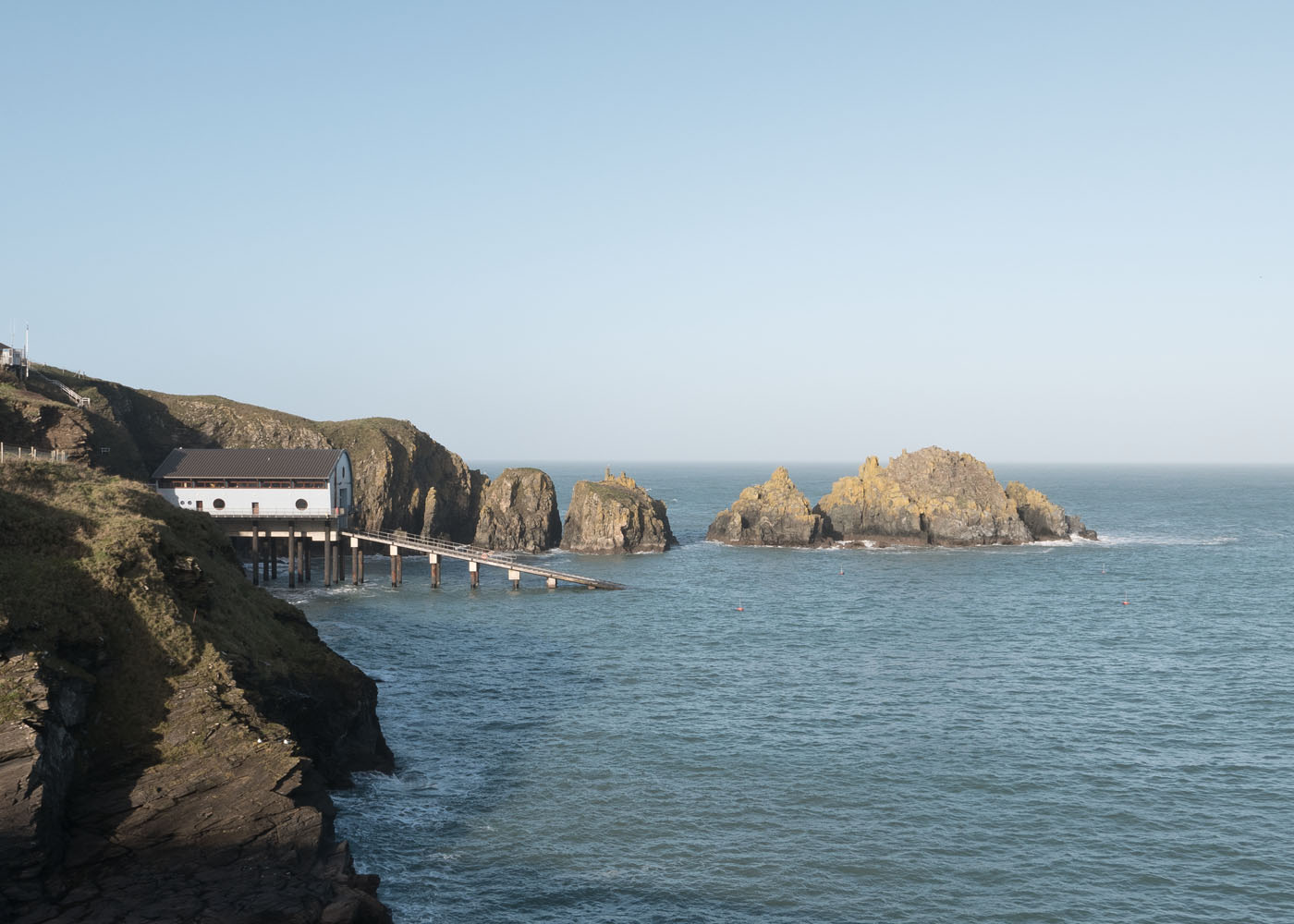 A view of the beautiful Padstow RNLI Lifeboat Station