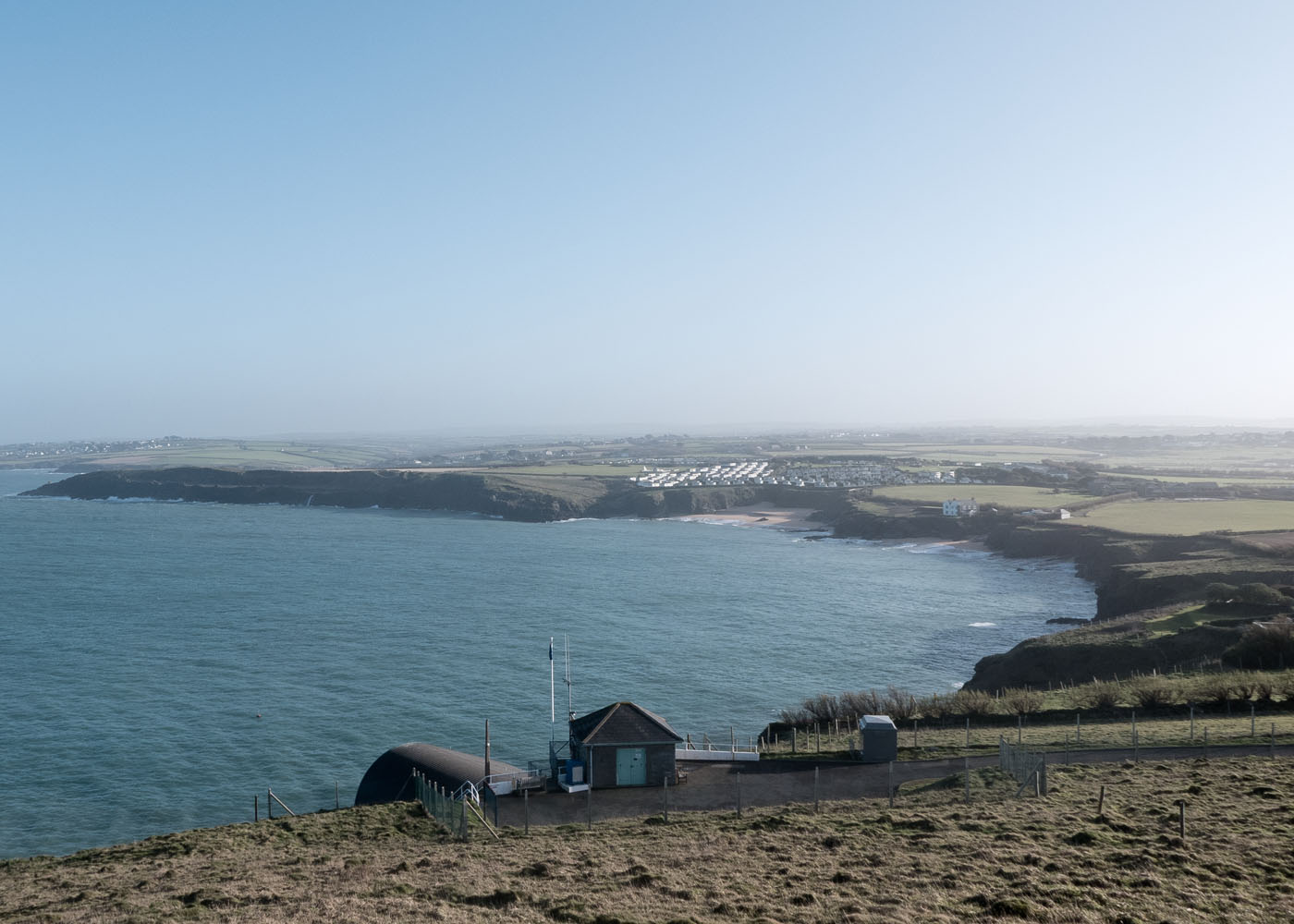 Fantastic views over Polventon Bay from Trevose head