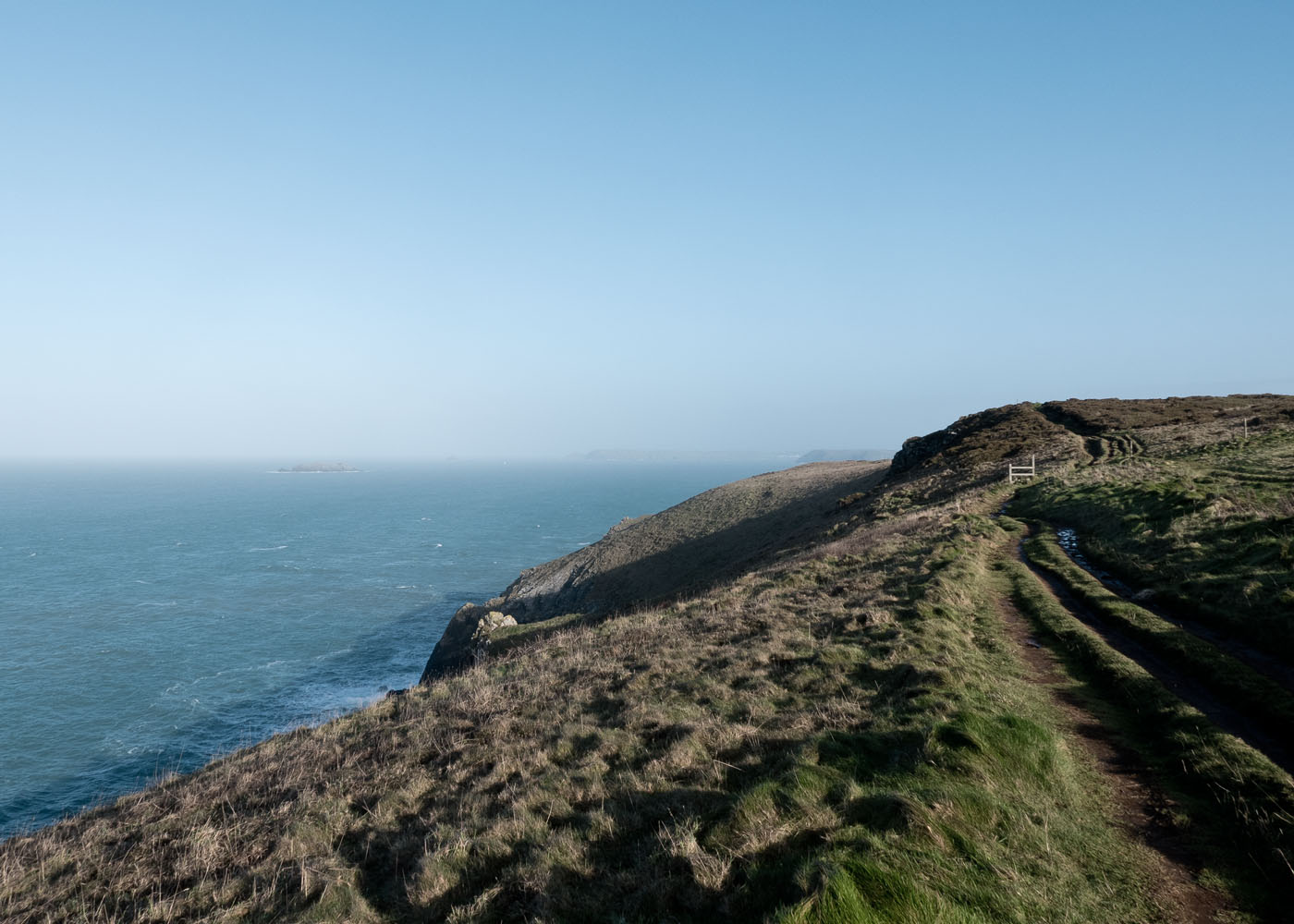 Coastal path along Trevose Head North Cornwall