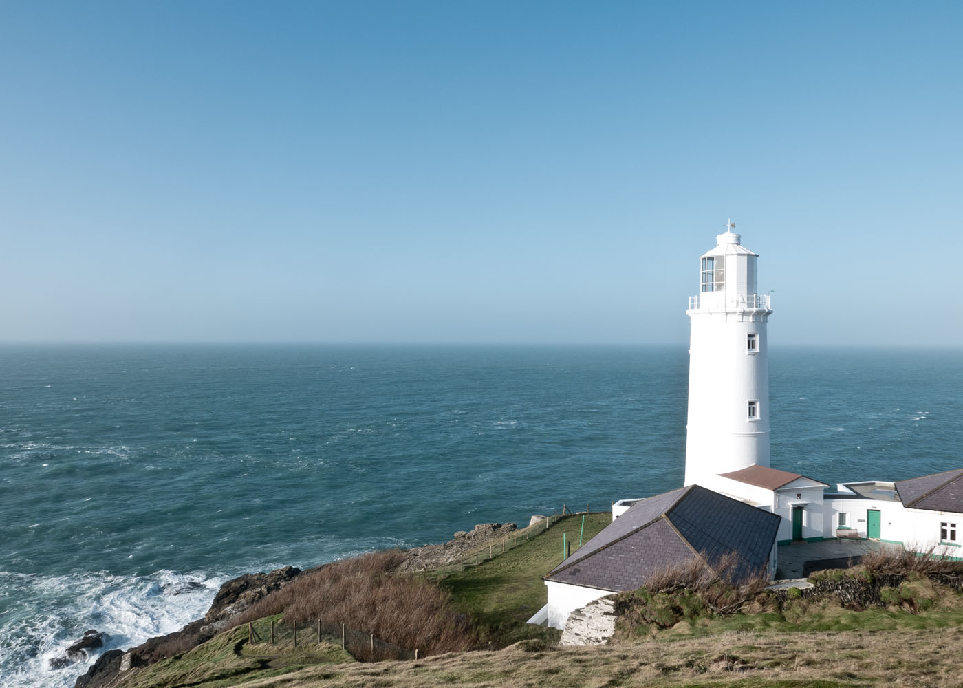 Trevose head Lighthouse near Padstow in North Cornwall