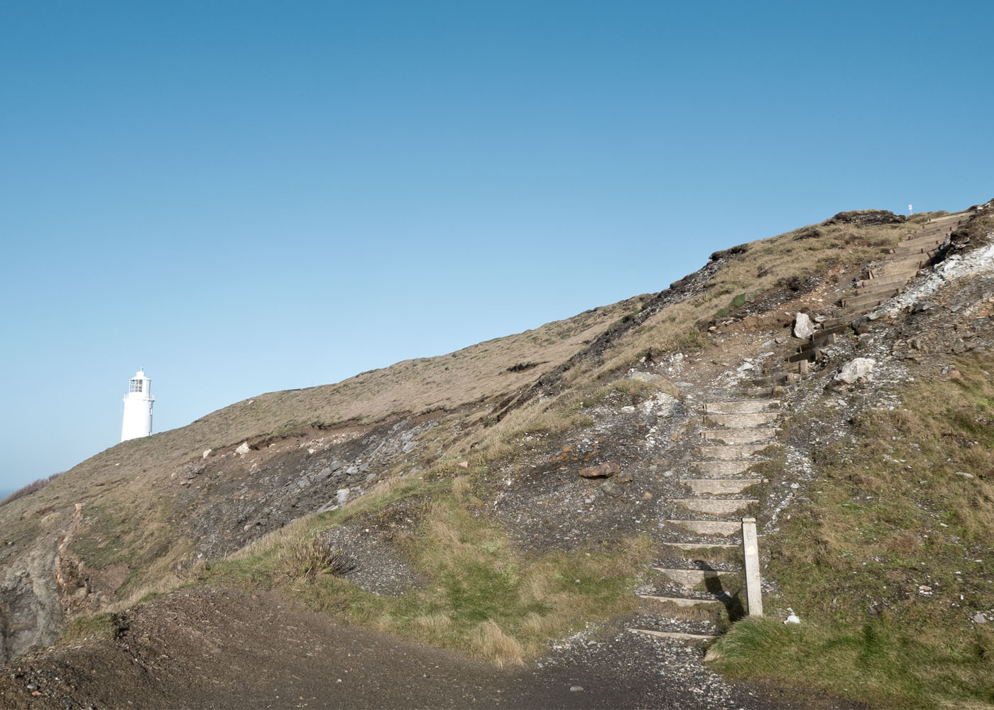 Steps leading to Trevose Lighthouse