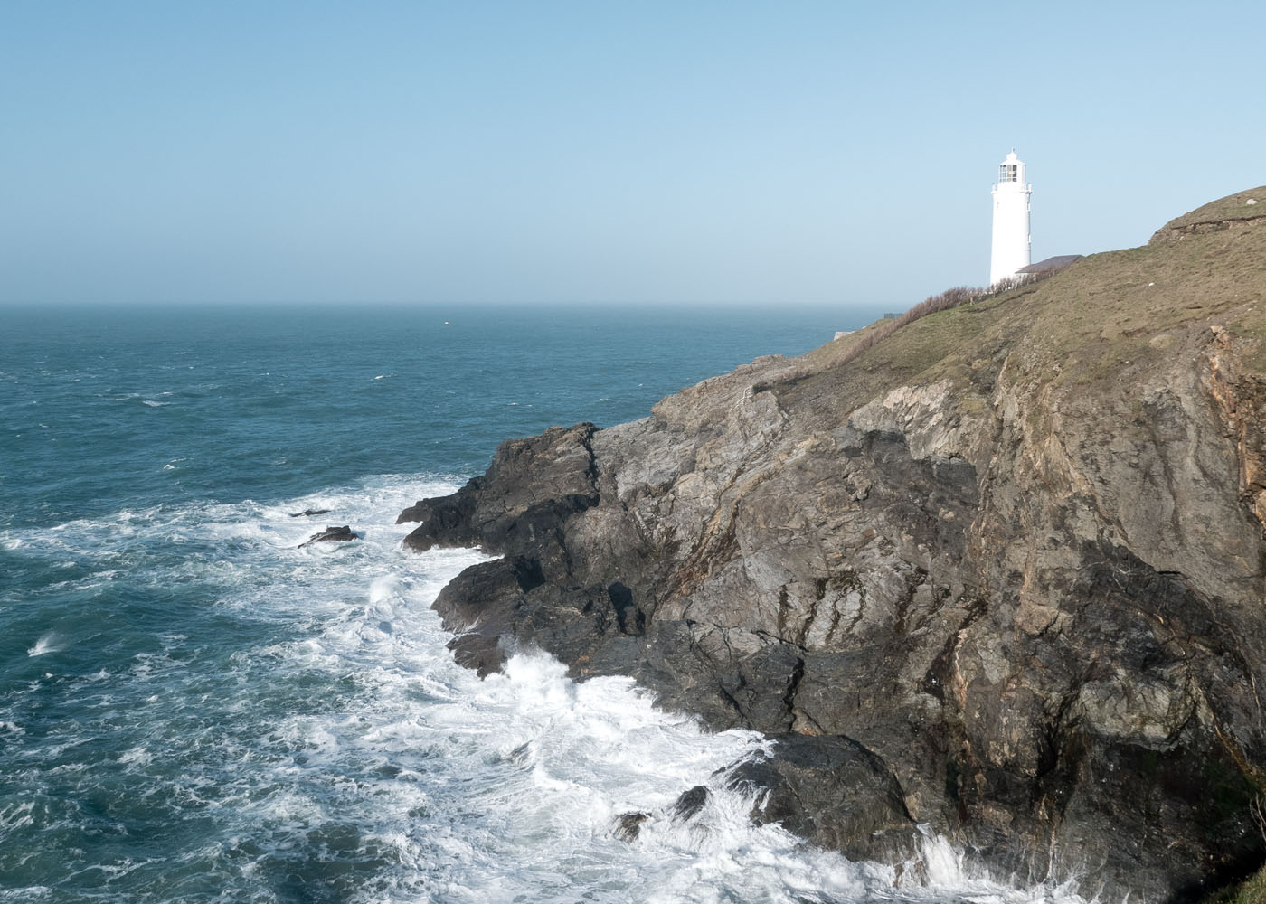 A view of Trevose Lighthouse