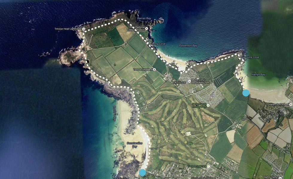 Coastal walk from Constantine Bay to Harlyn Bay North Cornwall
