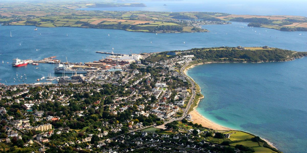 Aerial photo of Falmouth Cornwall Photo © www.falmouth.co.uk