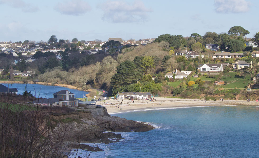 Swanpool beach in Falmouth