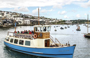 St Mawes passenger ferry in Falmouth South Cornwall