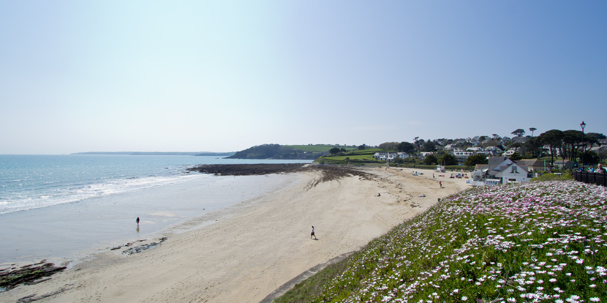 Gyllyngvase beach in Falmouth Cornwall