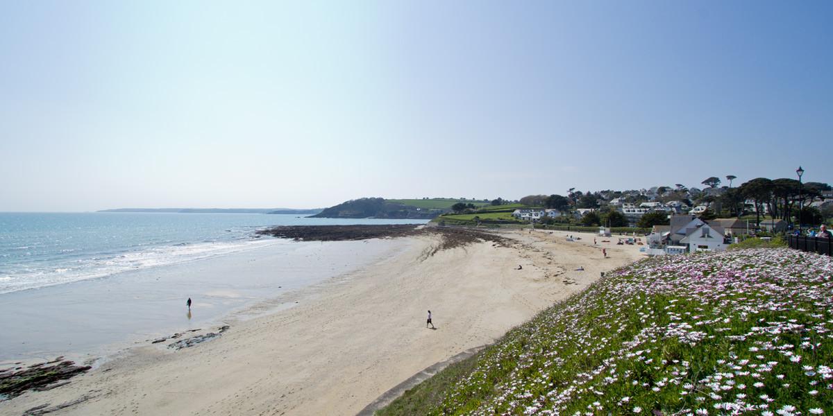 Gyllyngvase beach in Falmouth Cornwall