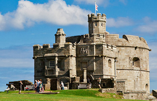 Pendennis Castle in Falmouth South Cornwall