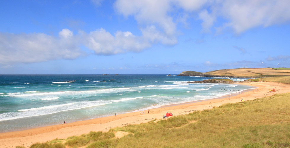 Constantine Bay dog friendly beach in Cornwall