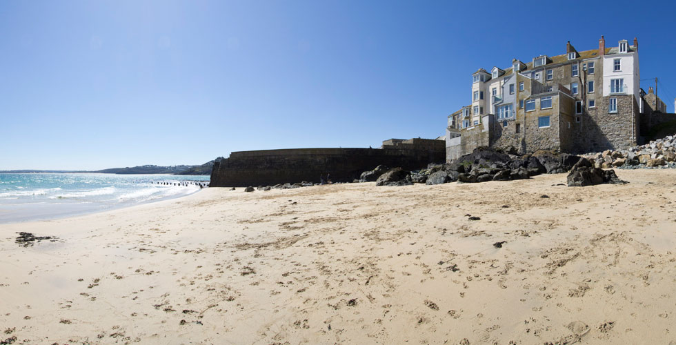 Bamaluz beach is a dog friendly beach in St Ives, Cornwall