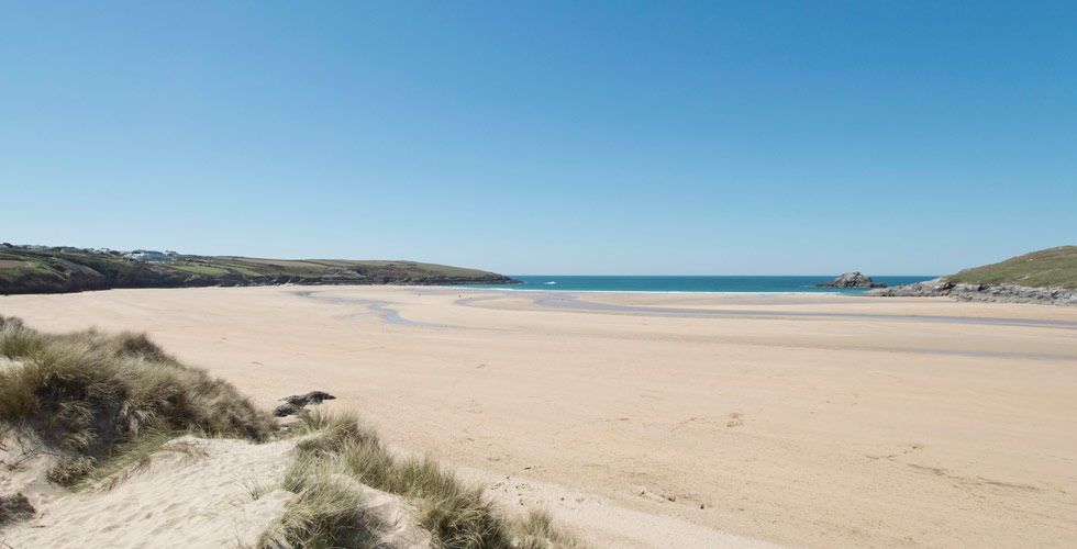 Crantock dog friendly beach in Cornwall
