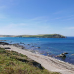 Photo of Greenaway beach and stepper point near Padstow in North Cornwall