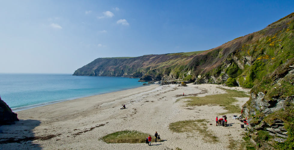 Lantic Bay beach dog friendly cornwall
