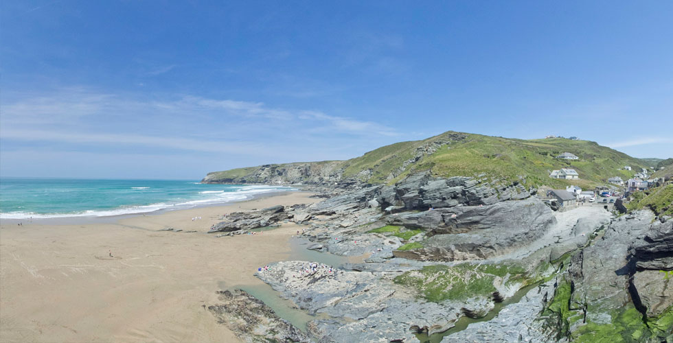 Trebarwith Strand is a dog friendly beach in Cornwall