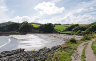 Polridmouth Cove beach near Fowey in South East Cornwall