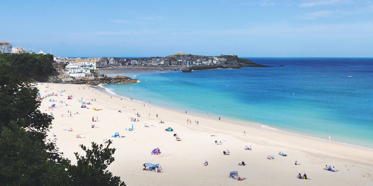 Porthminster Beach in St Ives Cornwall