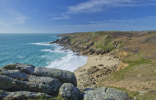 View of Porthchapel beach in West Cornwall