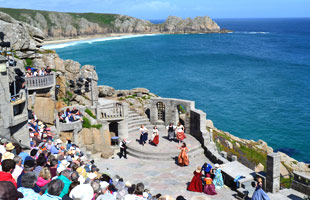 Minack Theatre near Porthcurno beach in West Cornwall