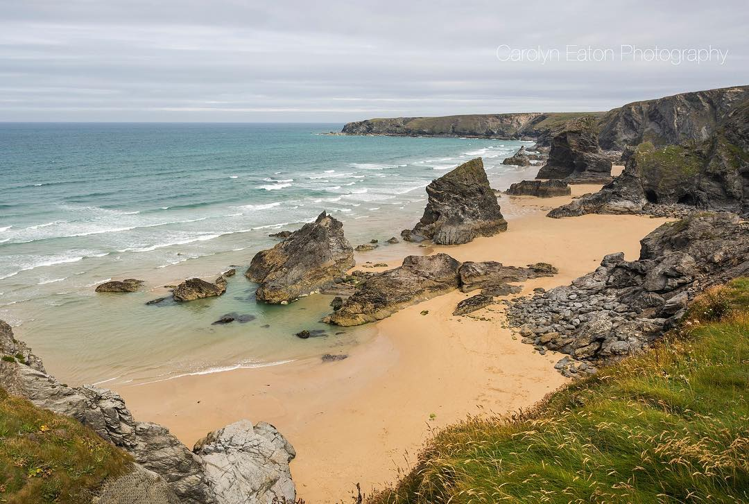 Bedruthan Steps in north Cornwall by Carolyn Eaton Photography