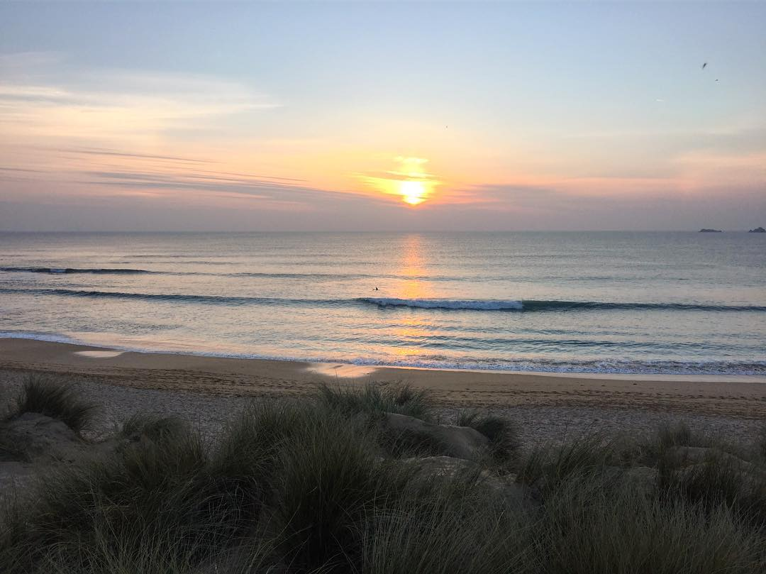 Sunset over constantine bay near padstow in cornwall photo by kate whiston