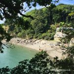view of durgan beach near falmouth in cornwall