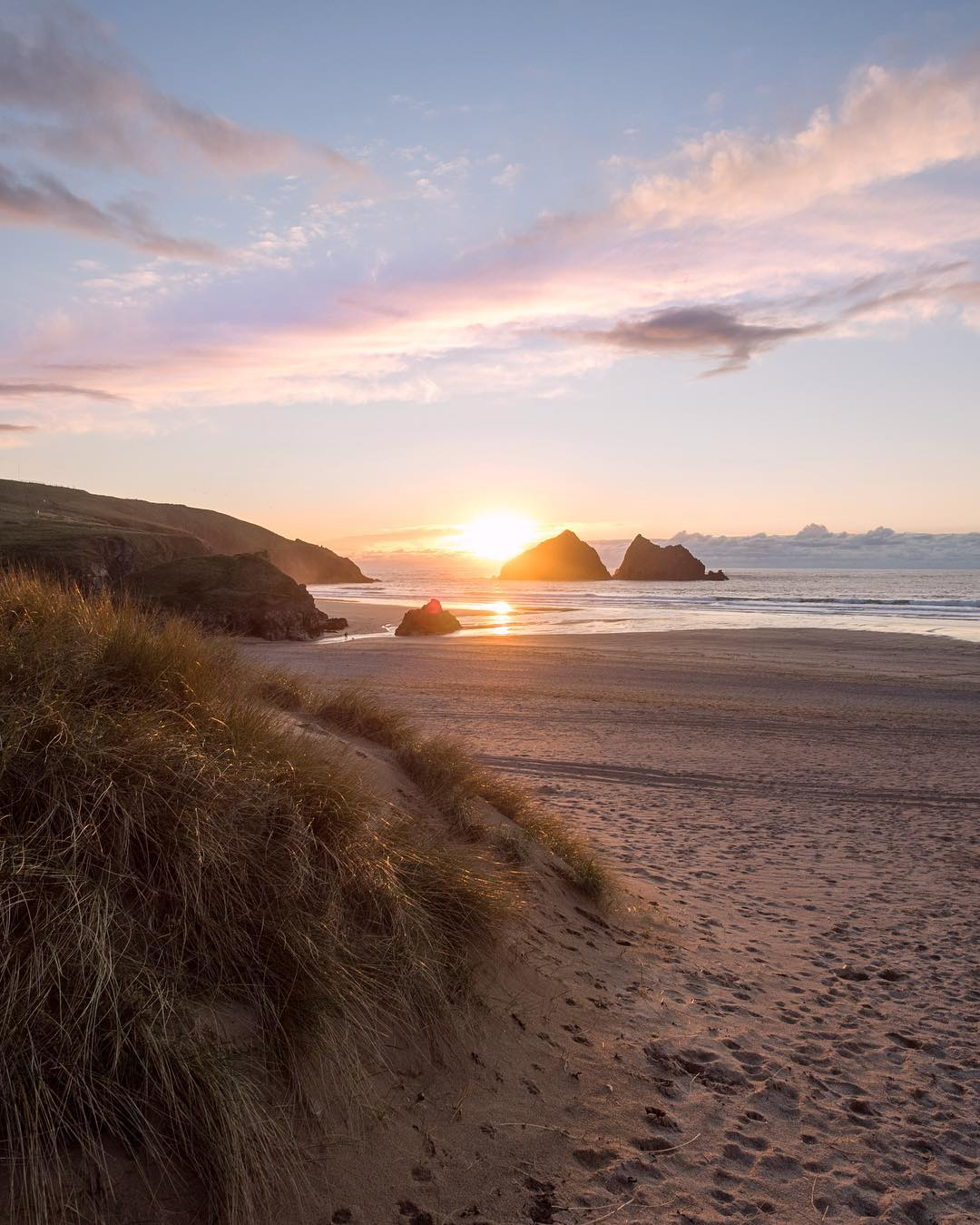 holywell bay sunset kris field