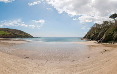 Cornwall beaches Caerhays Beach St Mawes & The Roseland