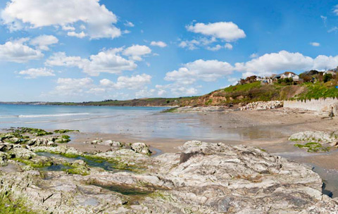 Cornwall beaches Carne Beach St Mawes & The Roseland