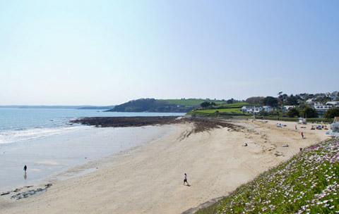 Cornwall beaches Gyllyngvase Falmouth
